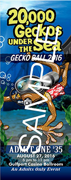 Gecko Ball 2016 Tickets